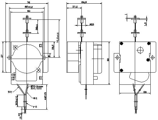 全自动洗衣机排水电机 排水牵引器(tcl型顺达型)